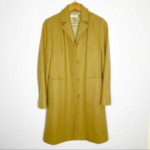 J. Crew Long Wool Peacoat Jacket Camel Brown XS